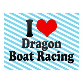 I love Dragon Boat Racing Postcard