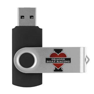 I Love Dragon Boat Racing Swivel USB 2.0 Flash Drive