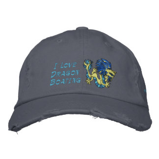 I Love  Dragon Boating Embroidered Baseball Cap