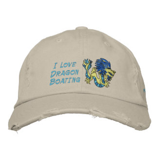 I Love  Dragon Boating Embroidered Baseball Caps