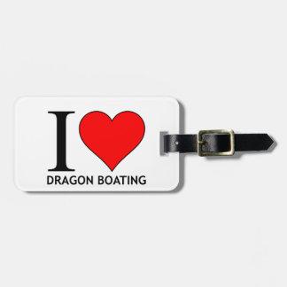 I Love Dragon Boating Range Luggage Tag