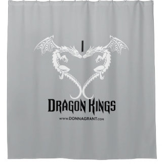 I Love Dragon Kings shower curtain