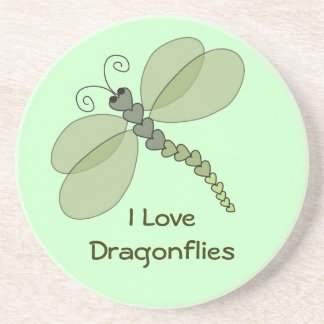I Love Dragonflies Coaster