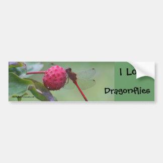 I Love Dragonflies Nature Bumper Sticker Car Bumper Sticker