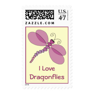 I Love Dragonflies Postage