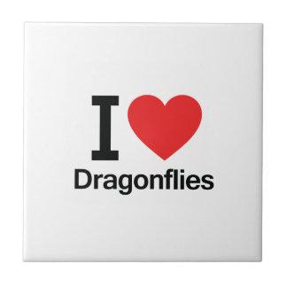 I Love Dragonflies Ceramic Tile