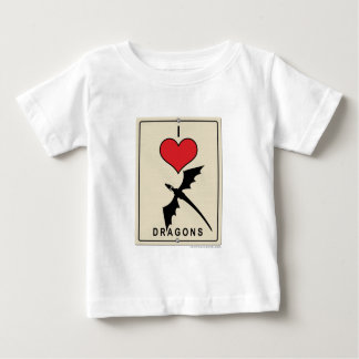 I Love Dragons Baby T-Shirt
