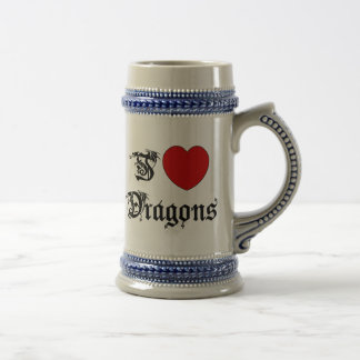 I Love Dragons Beer Stein
