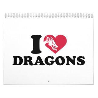 I love dragons calendar