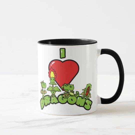 I Love Dragons Mug