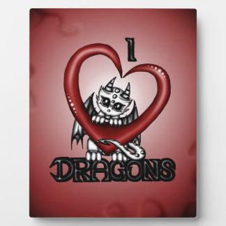 I love Dragons Plaque