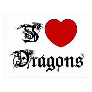 I Love Dragons Postcard