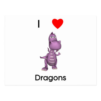 I love dragons post cards