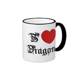 I Love Dragons Ringer Mug