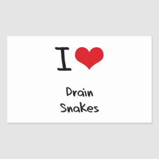 I Love Drain Snakes Sticker