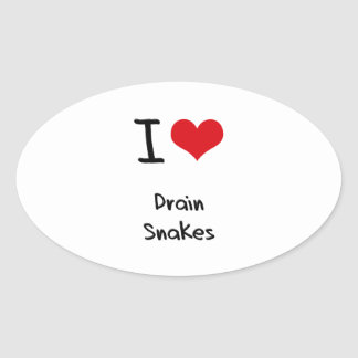 I Love Drain Snakes Stickers