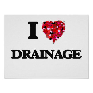 I love Drainage Poster