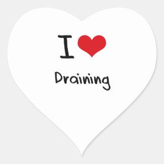 I Love Draining Heart Sticker