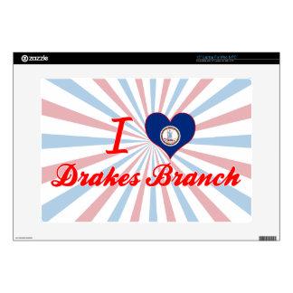 I Love Drakes Branch, Virginia Laptop Skins