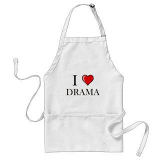 I love Drama Adult Apron