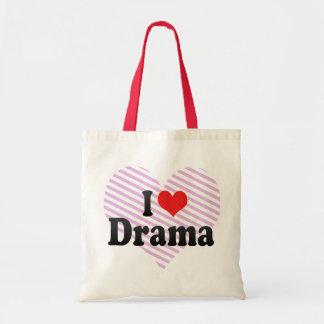 I Love Drama Budget Tote Bag