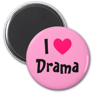 I Love Drama 2 Inch Round Magnet