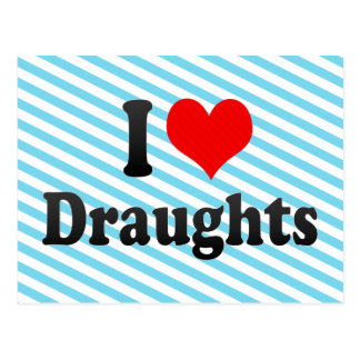 I love Draughts Post Cards
