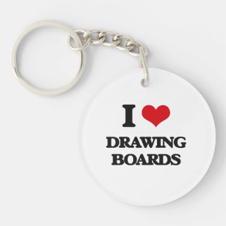 I love Drawing Boards Key Chain