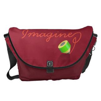 """I love drawing """"Imagine"""" Messenger Bag"""