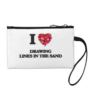 I love Drawing Lines In The Sand Coin Purses