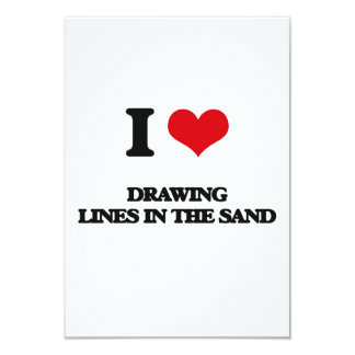 I love Drawing Lines In The Sand Personalized Announcement Card