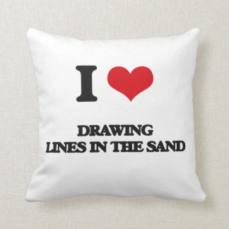 I love Drawing Lines In The Sand Pillows