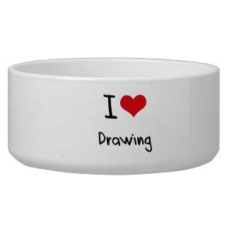 I Love Drawing Dog Bowl