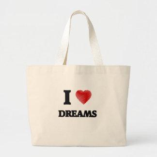 I love Dreams Large Tote Bag