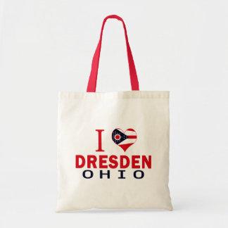 I love Dresden, Ohio Canvas Bags