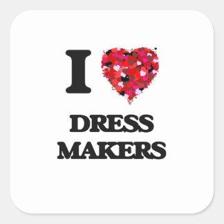 I love Dress Makers Square Sticker