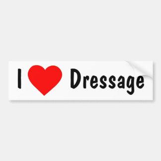 I Love Dressage Car Bumper Sticker