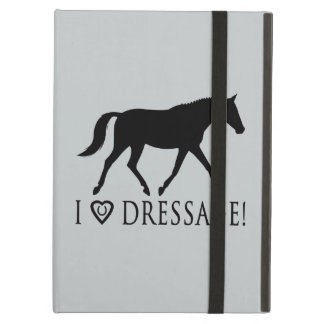 I Love Dressage with Horse in Silhouette iPad Air Covers