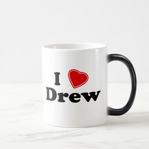 I Love Drew 11 Oz Magic Heat Color-Changing Coffee Mug