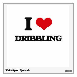 I love Dribbling Wall Decal