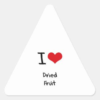 I Love Dried Fruit Triangle Sticker