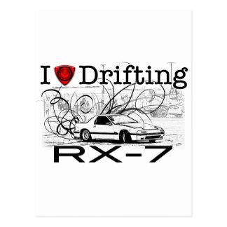 I love drifting RX-7 Postcard