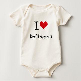 I Love Driftwood Baby Bodysuit