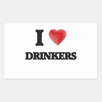 I love Drinkers Rectangular Sticker