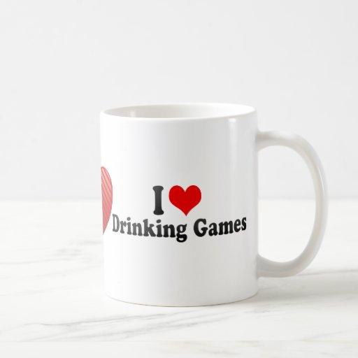 I Love Drinking Games Classic White Coffee Mug