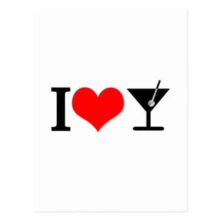 I love drinks postcard