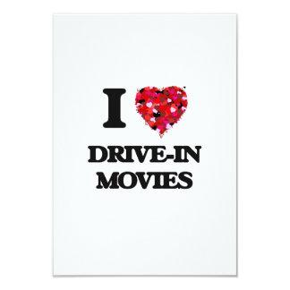 I love Drive-In Movies 3.5x5 Paper Invitation Card