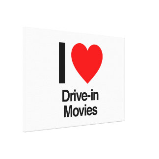 i love drive-in movies canvas print