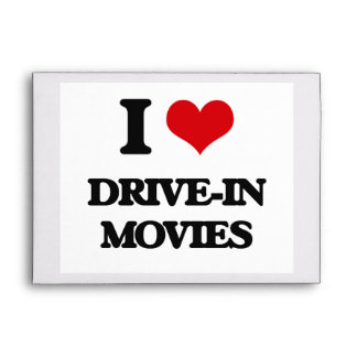 I love Drive-In Movies Envelopes