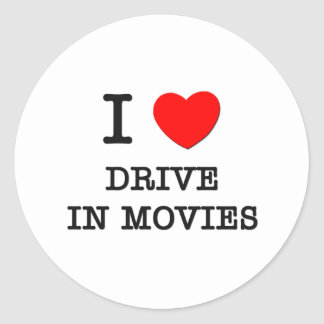 I Love Drive In Movies Stickers